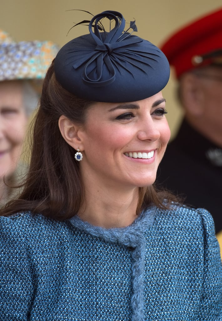 During a Diamond Jubilee visit to Nottingham in 2012, Kate wore this prim little topper.