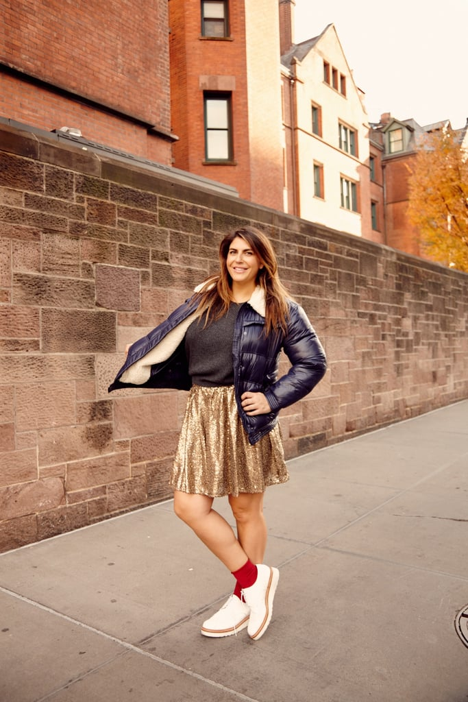 And speaking of trends, faux fur is also big this season, so why not put the two together? This Gap ($148) version looks way more expensive than it is (the beauty of faux fur). It's plenty cute on its own, but for extra impact, why not bedazzle it with DIY iron-on patches like this fun lightning bolt ($2)?