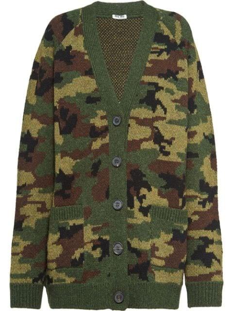 Miu Miu Camouflage Cardigan