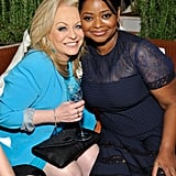 Jacki Weaver and Octavia Spencer caught up at the Women in Film event in LA on Friday night.