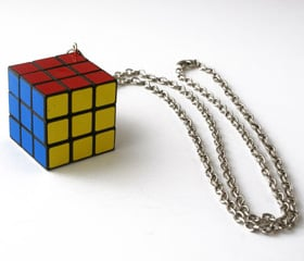 Rubix Cube Necklace: Totally Geeky or Geek Chic?