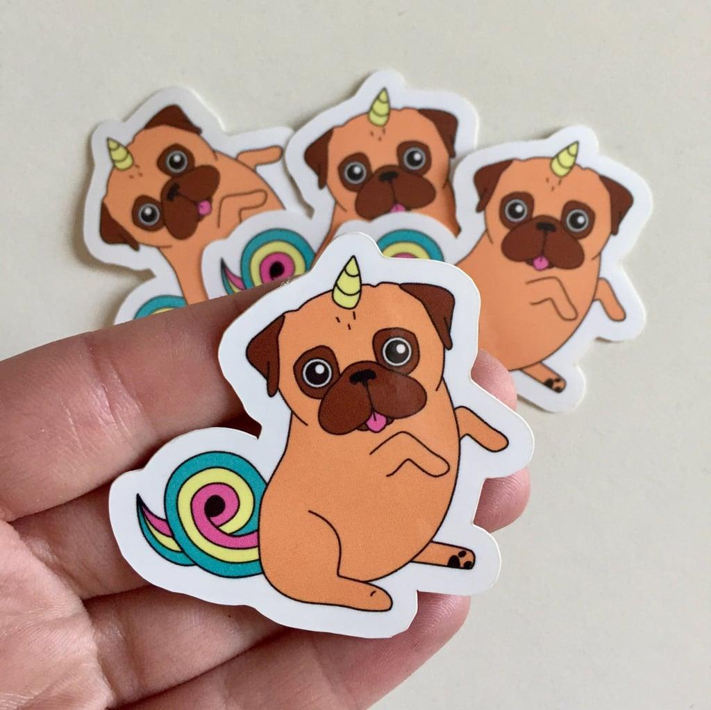 Unicorn Pug Stickers ($1)
