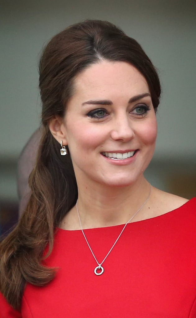 Kate Middleton With a Ponytail