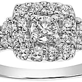 Lovemark Diamond Square Halo Engagement Ring