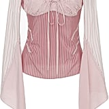 J.W.Anderson Silk Long Sleeve Tie Blouse