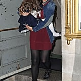 Katie Holmes carried Suri out of her Broadway show.