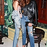 Kaia Joined Her Mom at a Levi's Event, Where They Wore Denim and Heels