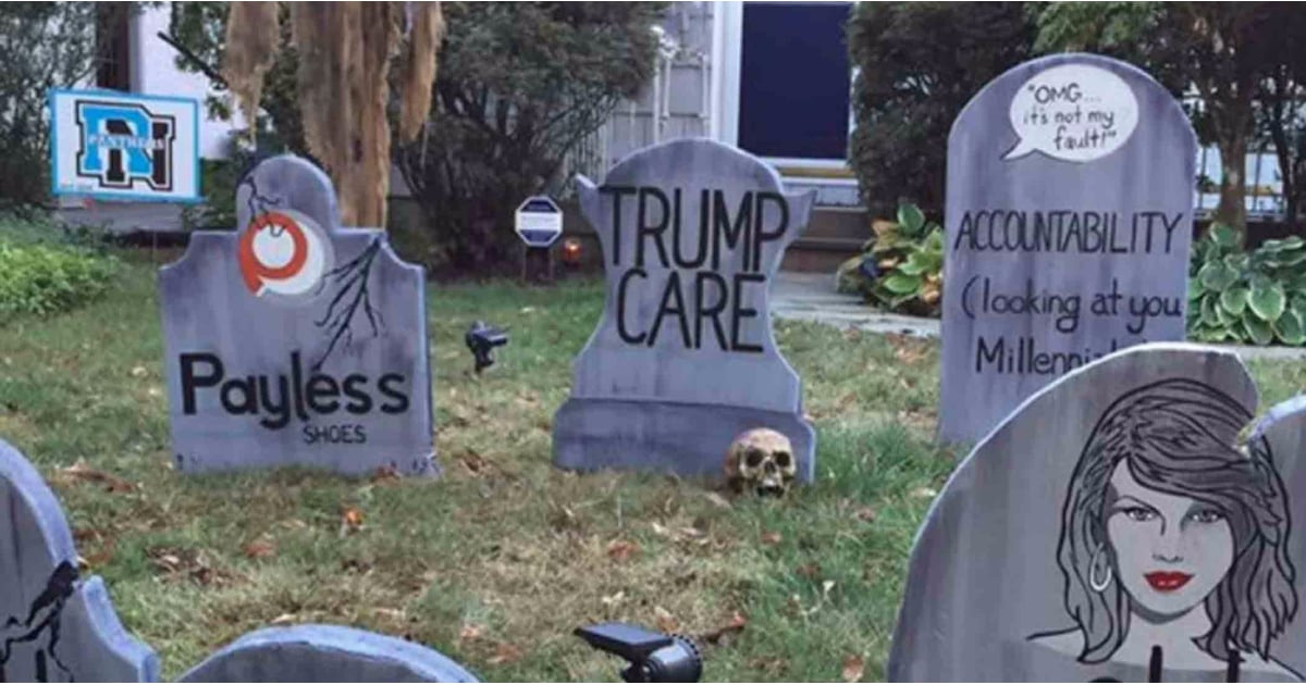 1 Man Made Hilarious Headstones For Halloween, and They Define Peak Dad