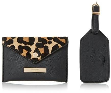 Dune Leopard Passport Case and Luggage Tag (£29)