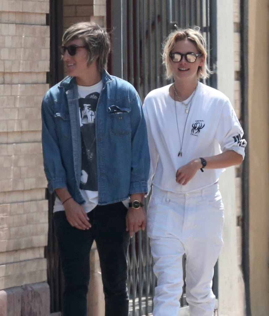 """Kristen Stewart and Alicia Cargile were spotted enjoying a sunny afternoon in LA on Saturday. The couple, who recently rekindled their romance, visited a pet store, where they purchased some food and toys for their dog, who was also in tow. Just last week, Kristen was seen out on a coffee run with her girlfriend following the release of her candid interview with T Magazine. In the issue, Kristen opened up about her former relationship with Robert Pattinson, saying, """"People wanted me and Rob to be together so badly that our relationship was made into a product. It wasn't real life anymore. And that was gross to me.""""      Related:                                                                Take a Look Back at All the People Kristen Stewart Has Dated                                                                   16 Times Kristen Stewart Used the F-Word to Get Her Point Across                                                                   10 Kristen Stewart Quotes That Will Inspire You to Be Your Most Badass Self"""