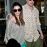 Channing put a loving arm around his wife.