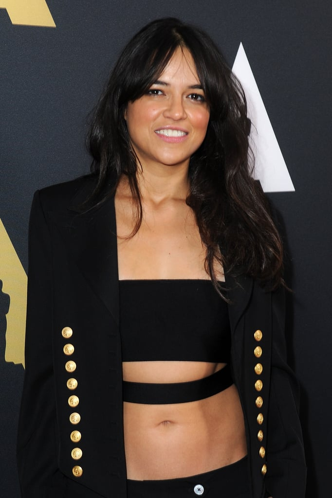 Michelle Rodriguez S Abs On The Red Carpet Popsugar