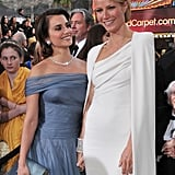 Gwyneth and Penélope Cruz were a glamorous pair on the red carpet at the Oscars in February 2012.
