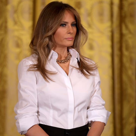 Melania Trump Wears Ralph Lauren Collection Pants