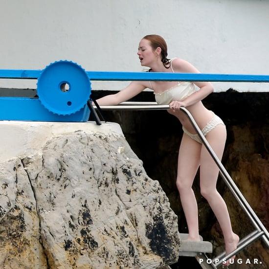 Emma Stone's Beige Bikini France 2018