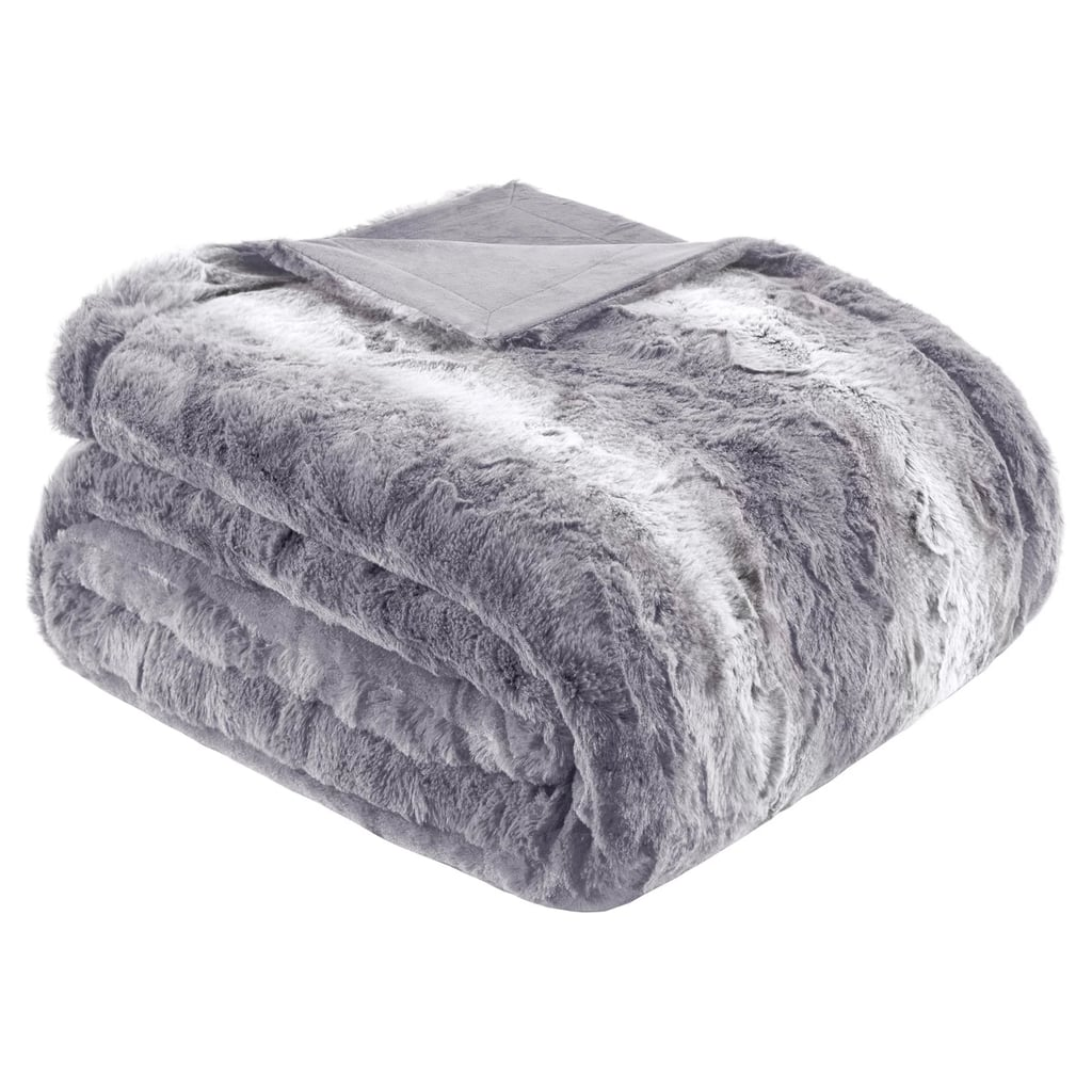 Faux Tip Fur Oversized Bed Throw