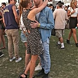 Kate Bosworth and husband Michael Polish kissed.