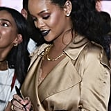 Rihanna Trench Dress at Fenty Beauty Event 2018