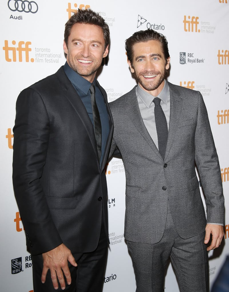 Hugh Jackman and Jake Gyllenhaal were two handsome peas in a pod at the Prisoners premiere.