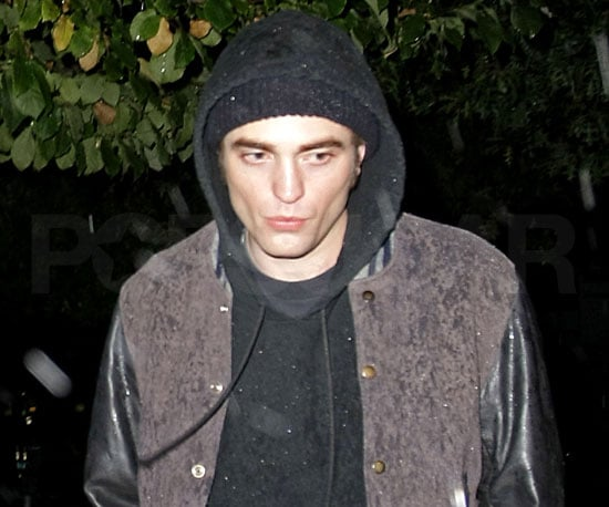 Slide Photo of Robert Pattinson in the Rain