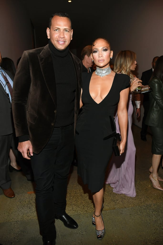 Alex Rodriguez and Jennifer Lopez at the Tom Ford Fall 2020 Show