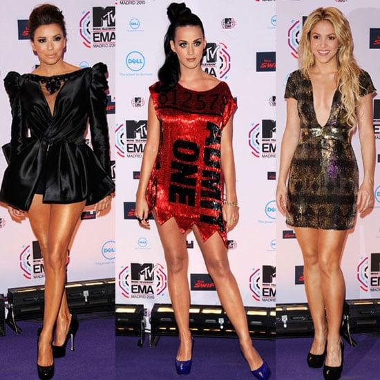Women on 2010 MTV EMAs Red Carpet