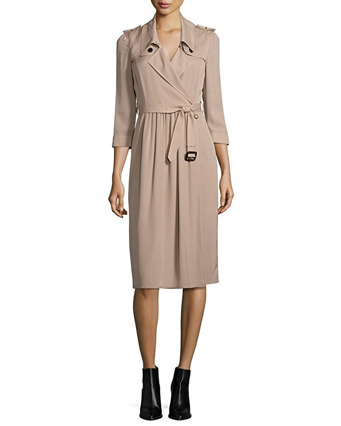 bd3a73b7357 Burberry Agatha Silk Trench Dress