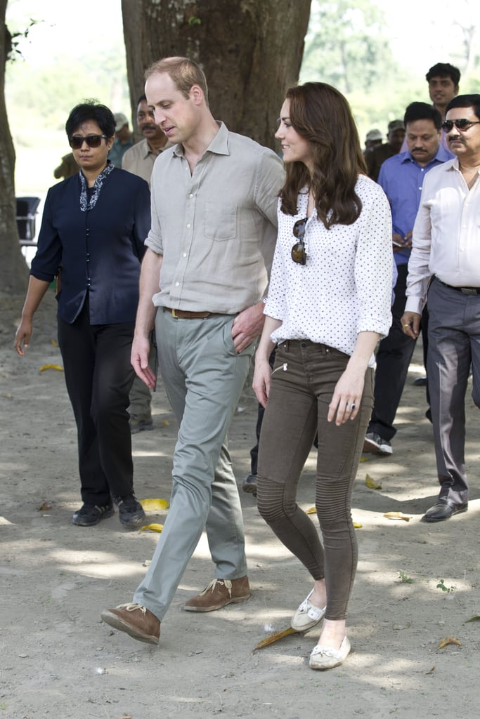 Kate Middleton Wearing Zara Trousers in India 2016