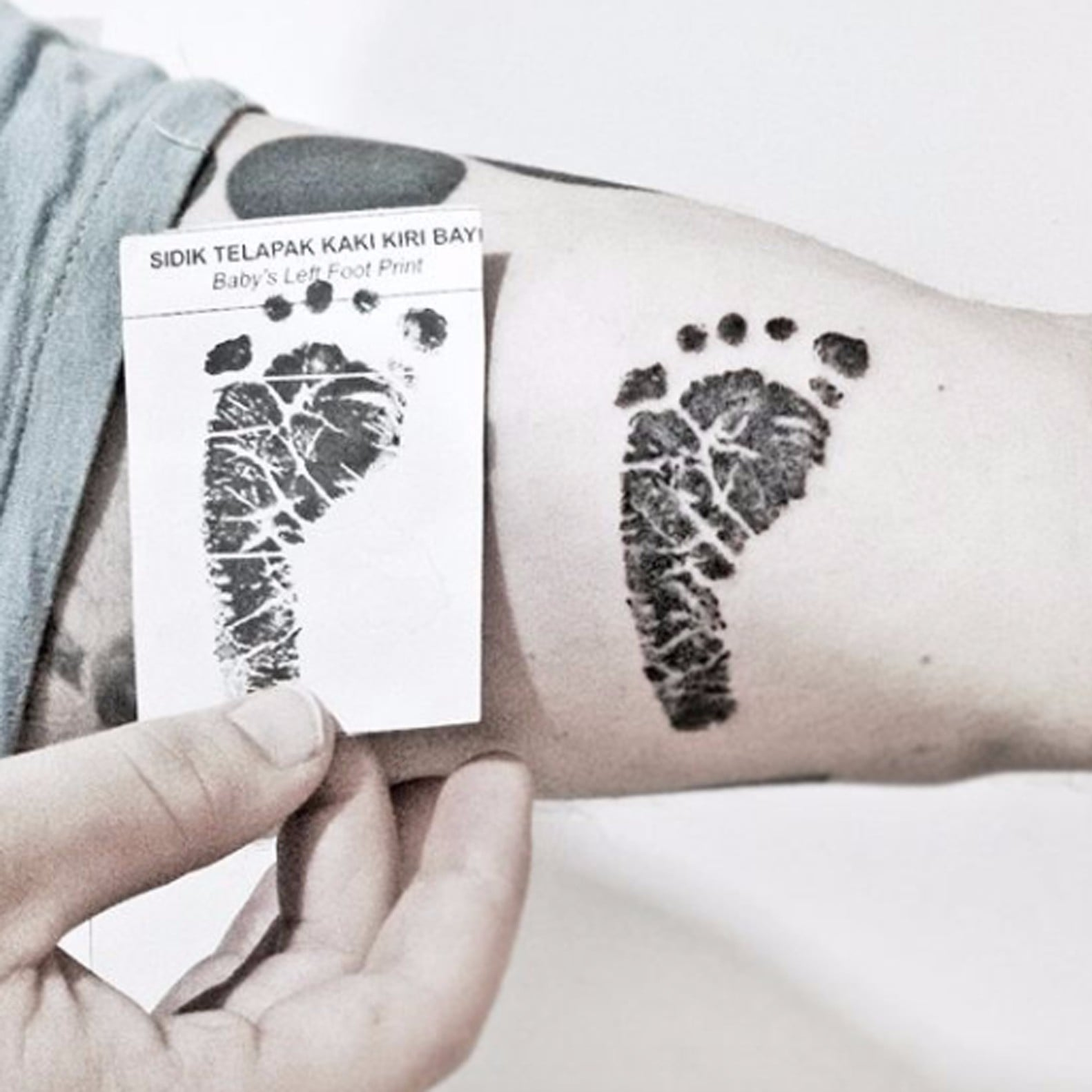Baby Footprint Tattoos Popsugar Family