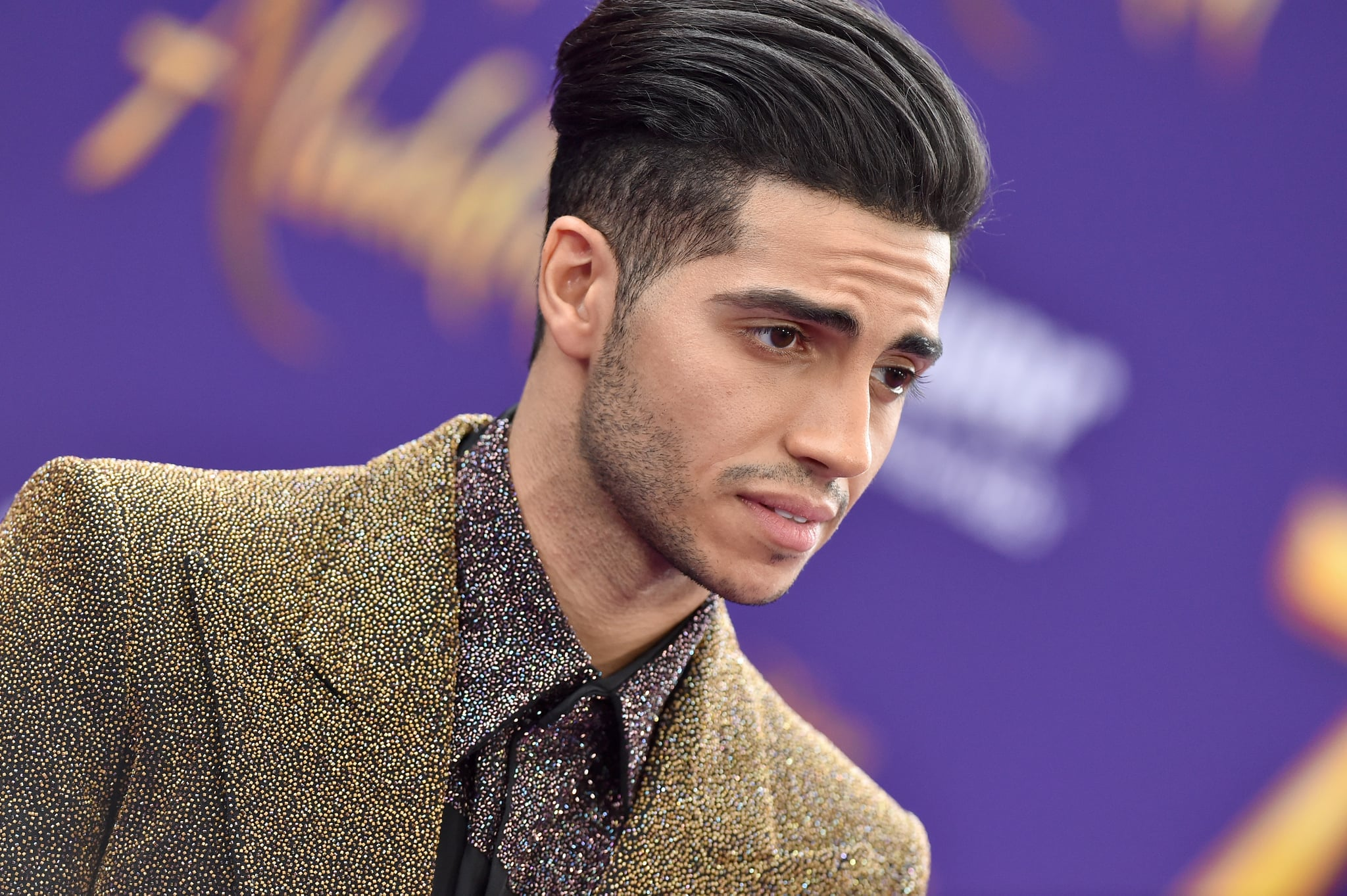 LOS ANGELES, CALIFORNIA - MAY 21: Mena Massoud attends the premiere of Disney's