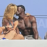 Heidi and Seal shared a kiss on the yacht.