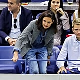 Katie Holmes Goes Through a Wave of Hilarious Emotions While Watching the US Open
