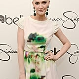 Ashlee Simpson's topknot had a double-decker effect, with two knots on top of each other.