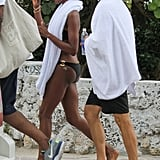 Naomi Campbell Wraps Up Her Bikini Beach Day With Vlad