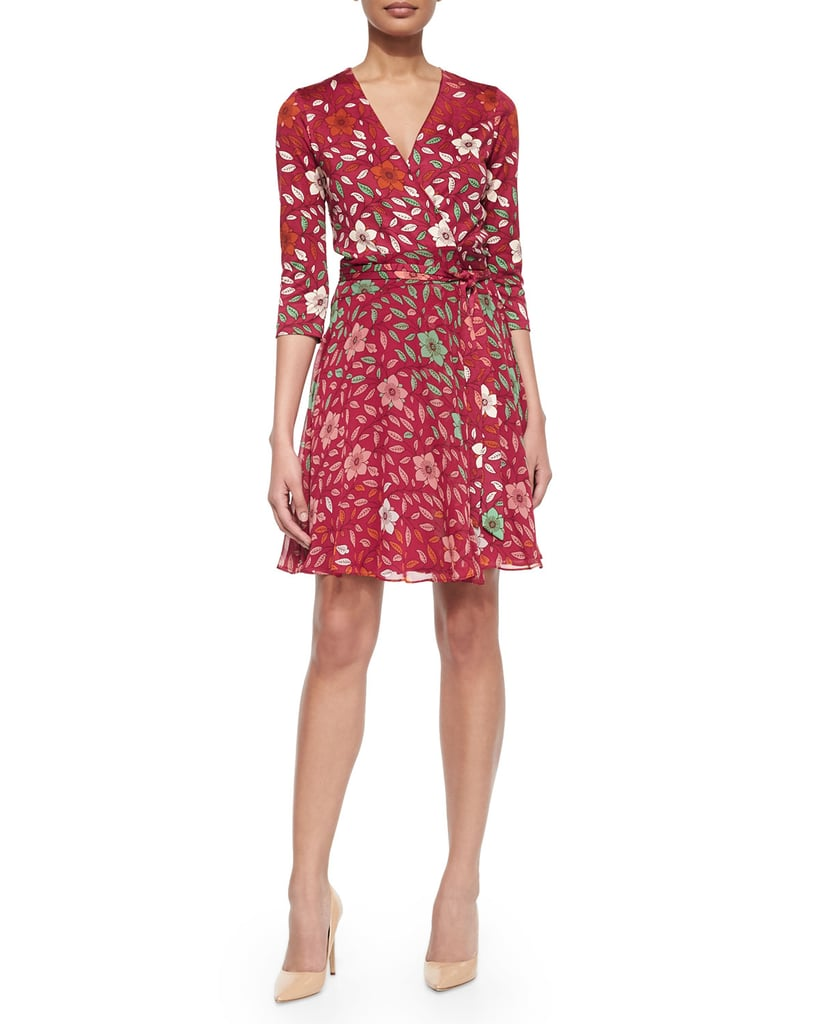 DVF Silk Floral Wrap Dress ($478)