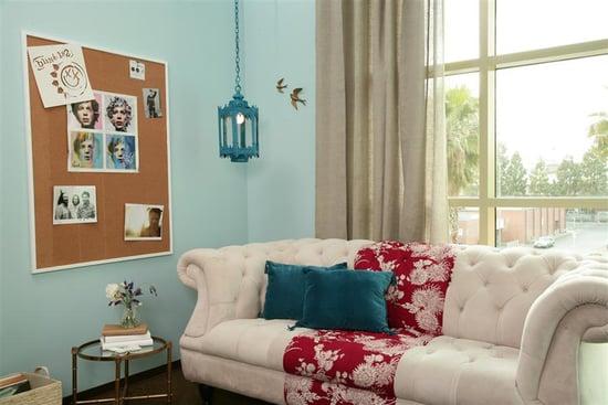 Cool Idea: A Curtain-Paneled Sofa