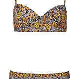 This pineapple-print Topshop Bustier Bikini ($68) is fun and flirty without showing off too much skin.