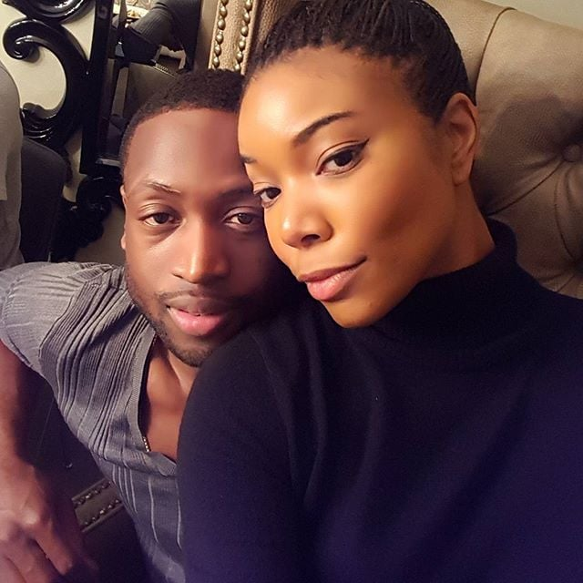 Gabrielle and Dwyane took a serious selfie at a Thanksgiving dinner in 2015.