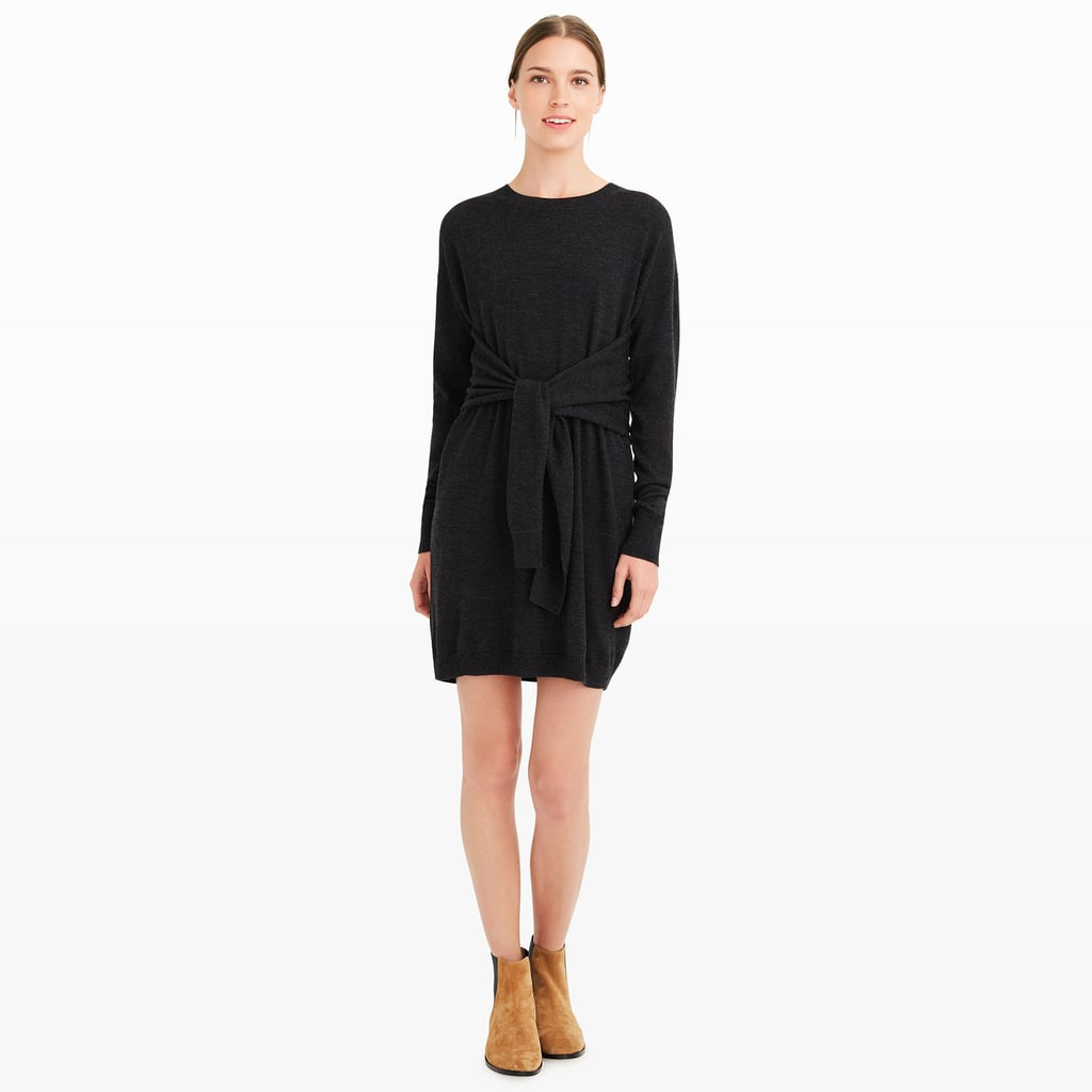 """This season's essential sweater dress comes with a contemporary update, thanks to a little tie detailing at the waist on this one from Club Monaco ($229). While some knit dresses just hang on the body, this one's perfect for highlighting the waist. It'll be a staple all Fall and Winter."" — Hannah Weil McKinley, senior editor, Fashion"