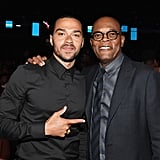 Pictured: Jesse Williams and Samuel L. Jackson