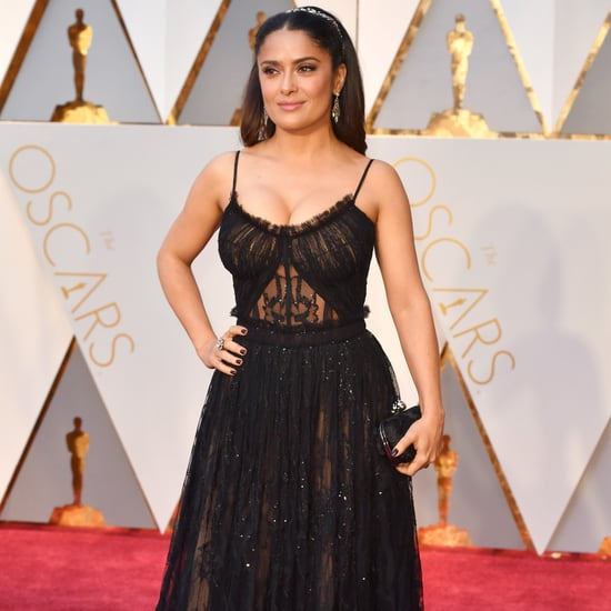 Salma Hayek Alexander McQueen Dress at 2017 Oscars