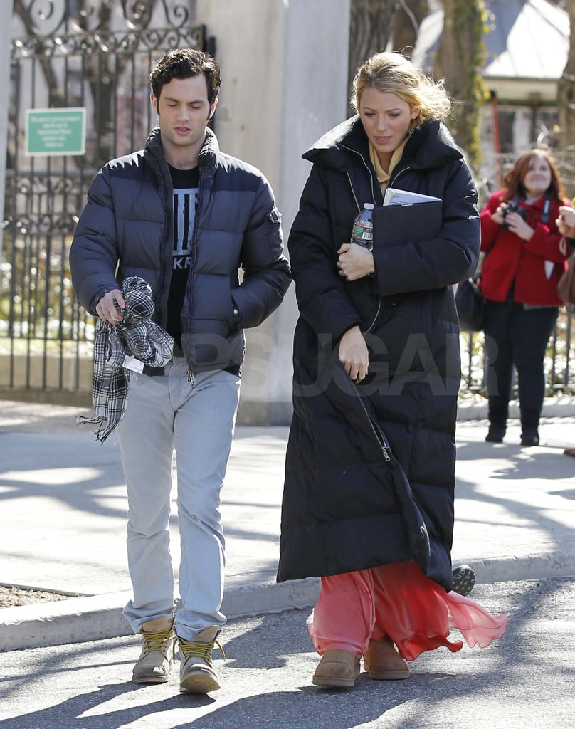 Blake Lively Goes From Chanel to Filming Gossip Girl With Penn, Ed, and Chace