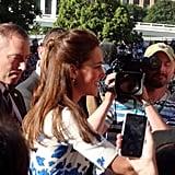 Kate greeted fans in Brisbane, Australia. Source: Twitter user auscanucksarah