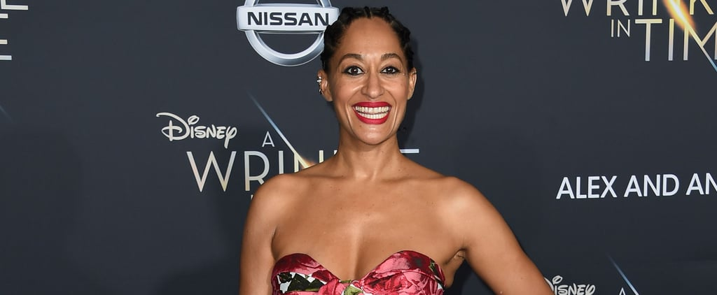 Tracee Ellis Ross Has the Ultimate Shoe Surprise Hiding Under Her Dress
