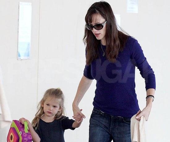 Slide Photo of Jennifer Garner and Violet Affleck Going to School in LA