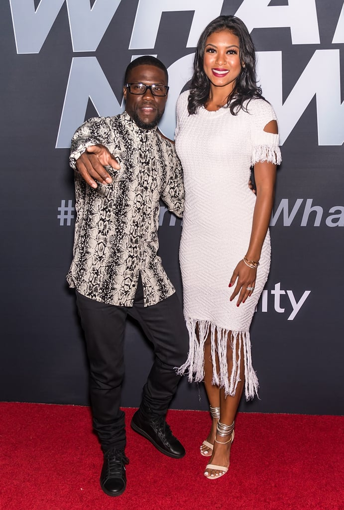 Kevin Hart and Eniko Parrish at What Now? Premiere in NYC