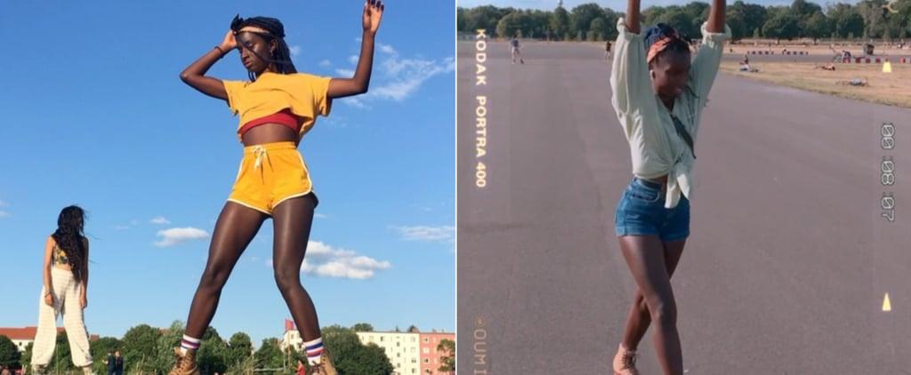 Oumi Janta Roller-Skating Videos on Instagram
