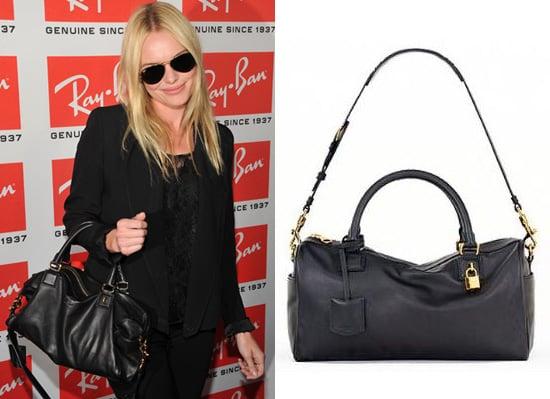 Kate Bosworth with Black Satchel Handbag by Loewe