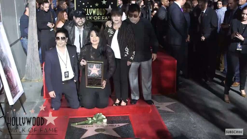 Late singer honored with star on Hollywood's Walk of Fame