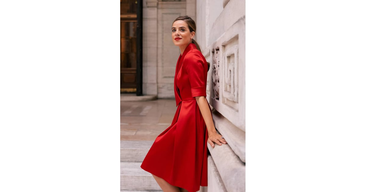 6680da8c1 Gal Meets Glam Collection Ruby Royal Satin Asymmetrical Collar Dress | Gal  Meets Glam Holiday Collection at Nordstrom | POPSUGAR Fashion Photo 6
